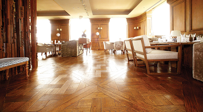 Ván sàn gỗ hoa văn hiện đại