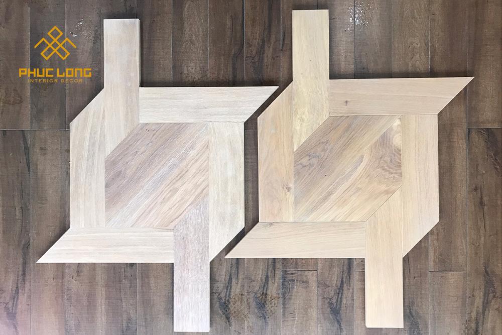 sàn gỗ hoa văn flower flooring