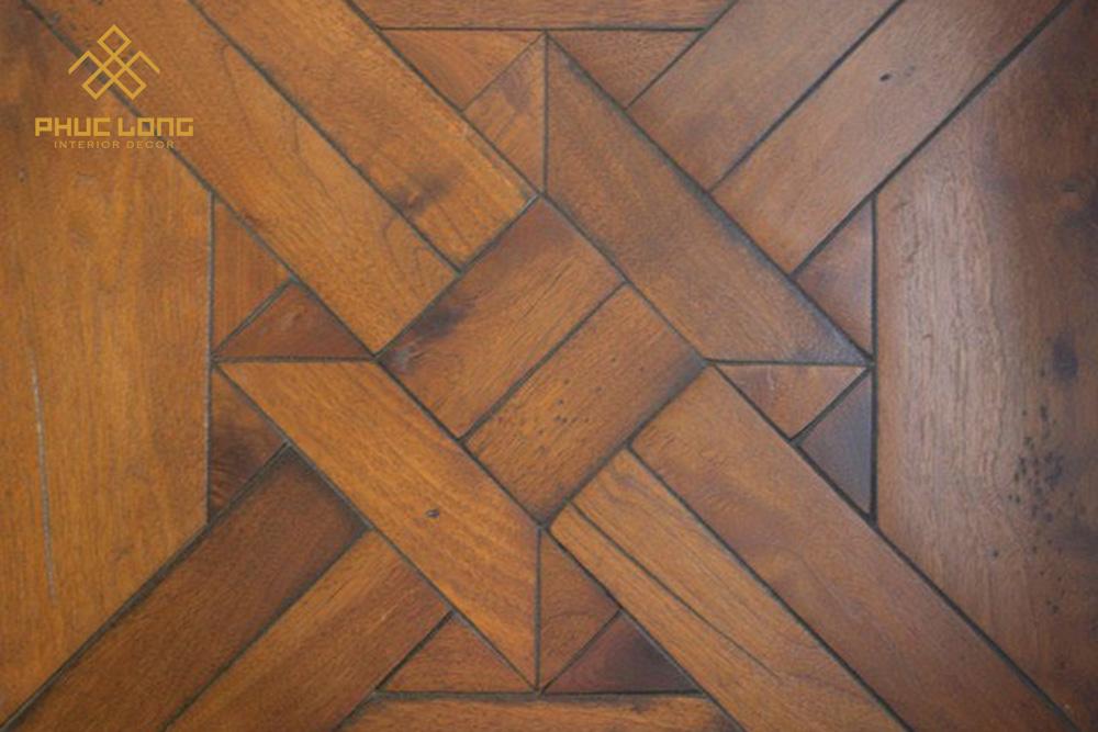 sàn hoa văn sàn gỗ ghép hình