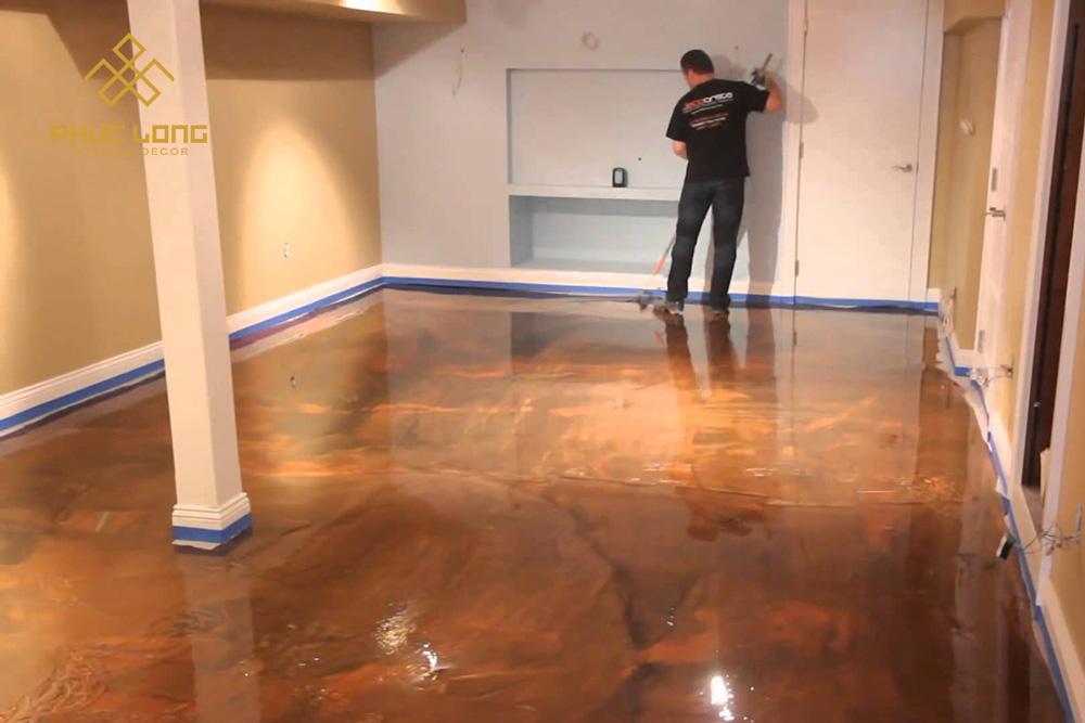 sàn gỗ tự nhiên sơn epoxy