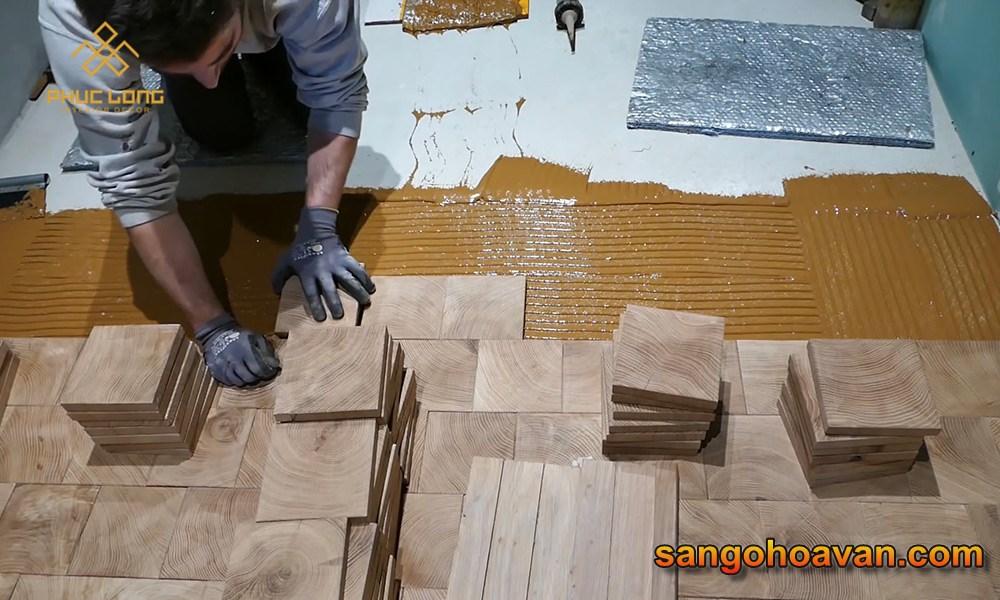sàn gỗ ghép hình sơn hệ gốc dầu